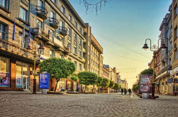 viste della città Ivano Frankivsk foto