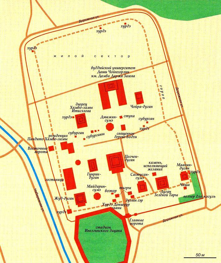 Mappa del territorio di Datsan