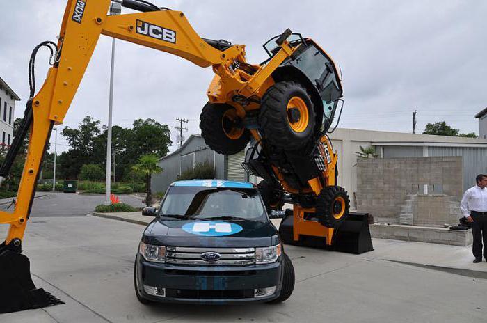 caratteristica del trattore jcb