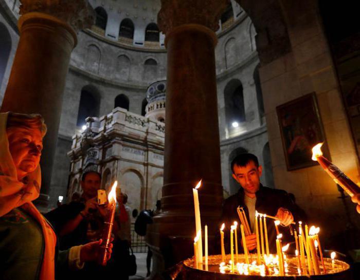 crvene svijeće u Jeruzalemu
