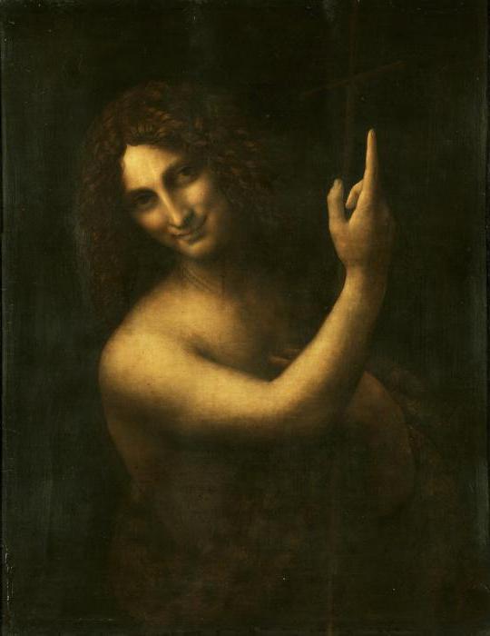 slika Janez Krstnik Leonardo da Vinci