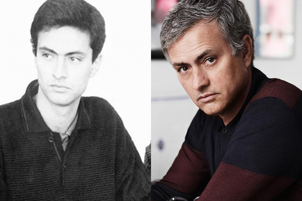 Jose Mourinho v jeho mládí a nyní