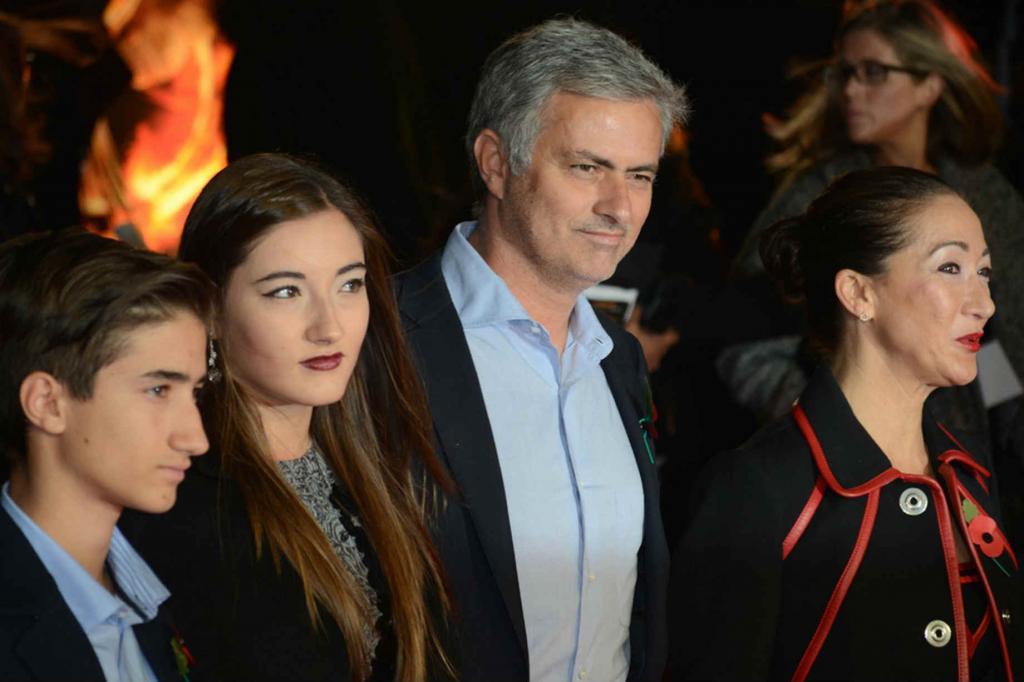 Jose Mourinho se svou rodinou