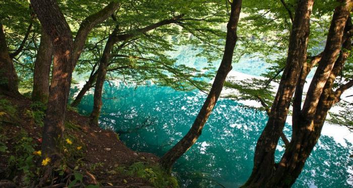 laghi blu di profondità kabardino balkaria