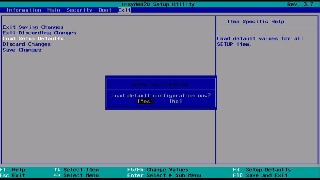 BIOS нулиране