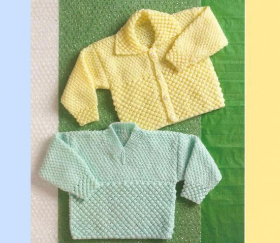 camicetta per un neonato con ferri circolari