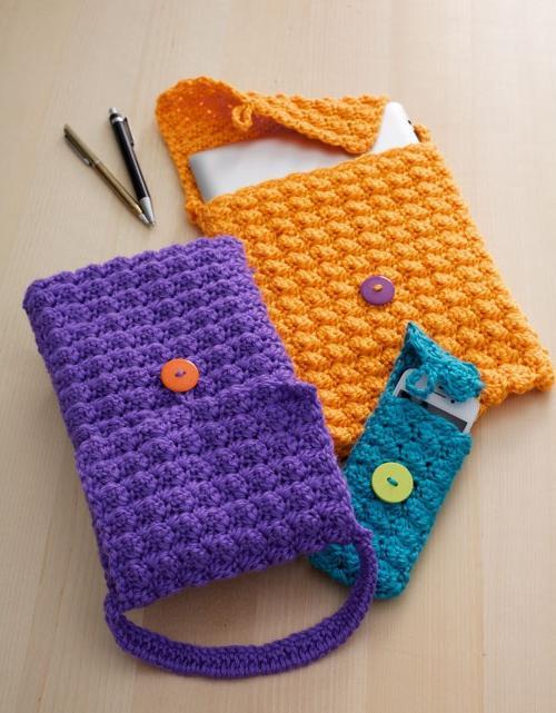 плетена торбица за телефон