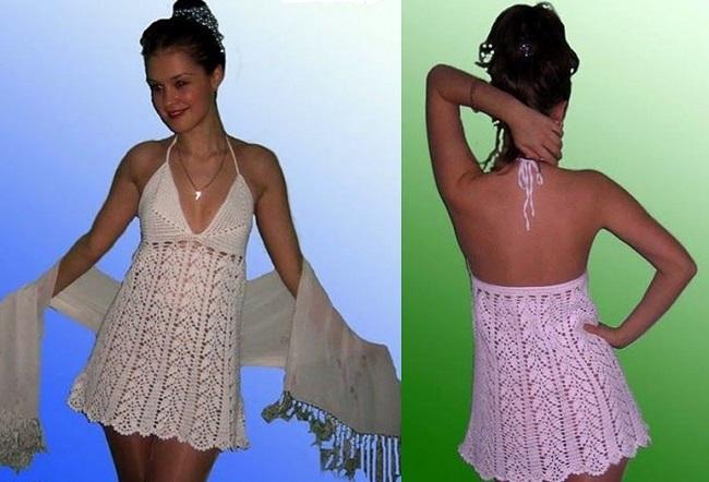 Poletno obleko za kvačkanje