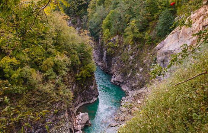 fiumi di montagna della regione di Krasnodar