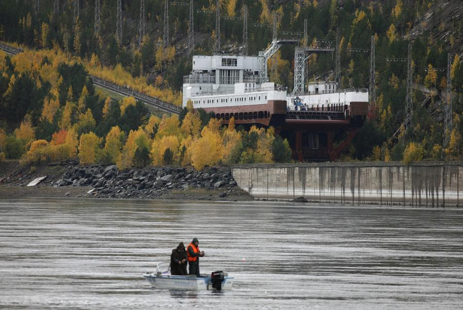 Pesca nel bacino di Krasnoyarsk