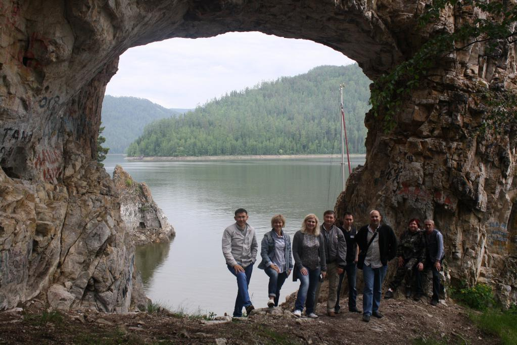 La grotta dello zar sul bacino di Krasnoyarsk