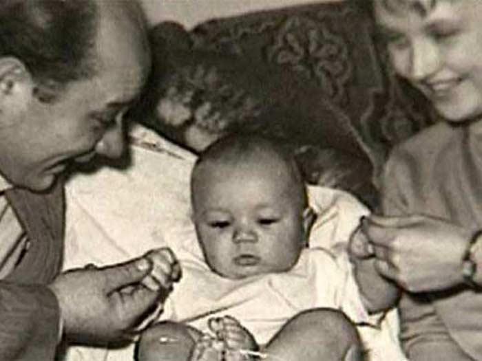 Leonov con la sua famiglia