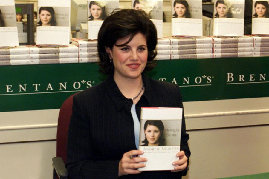 Monica Lewinsky pubblicizza il suo libro nel 1999