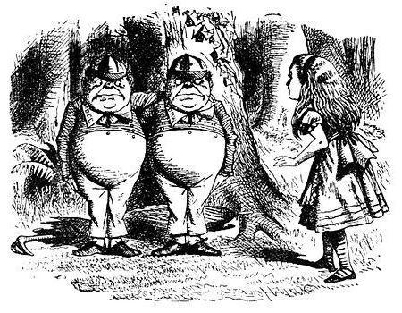 Alice nello specchio, un riassunto dei capitoli