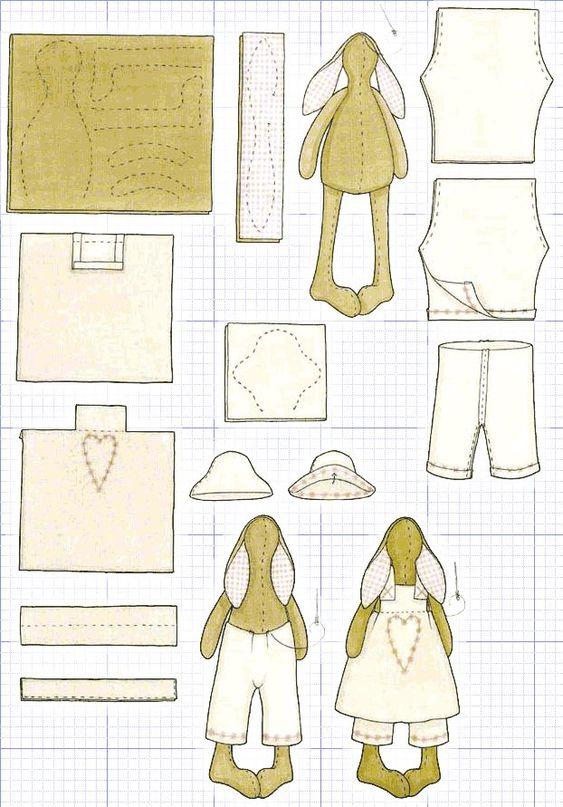 Vzorové oblečení pro tilde zajíce