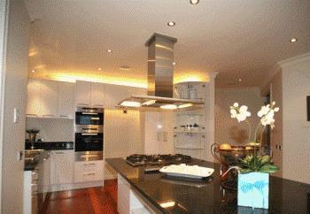 осветление на тавана на кухнята