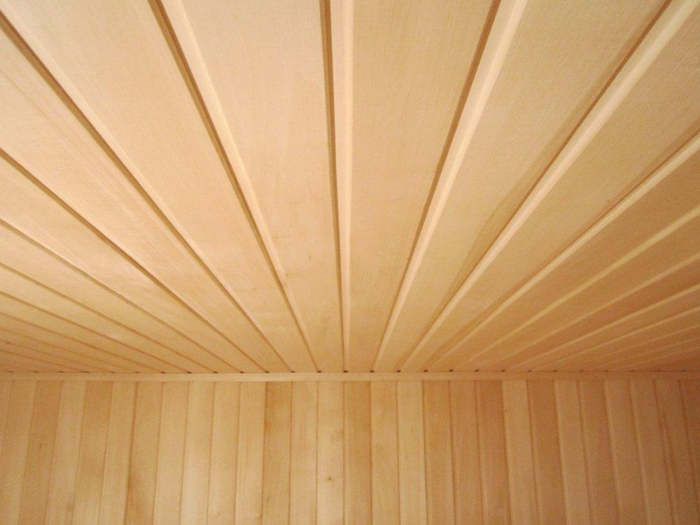 podšívka osika v dekoraci stropu a zdí