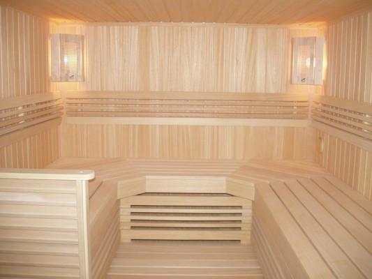podšívka osiky v interiéru sauny
