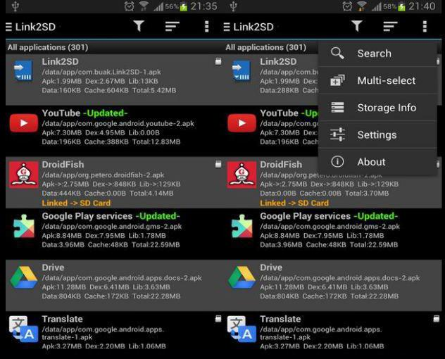 link2sd per Android