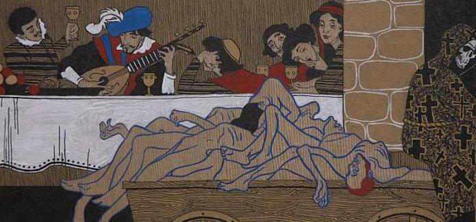 riassunto delle piccole tragedie della festa di Puskin durante la peste