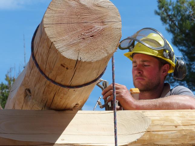 Come costruire una casa di tronchi