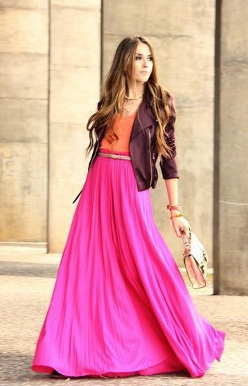 duga suknja s onim što nositi