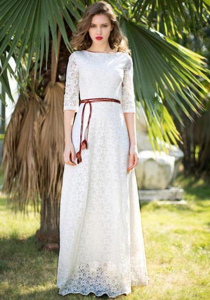 abito lungo bianco