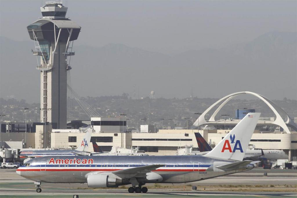 Vista dell'aeroporto di Los Angeles
