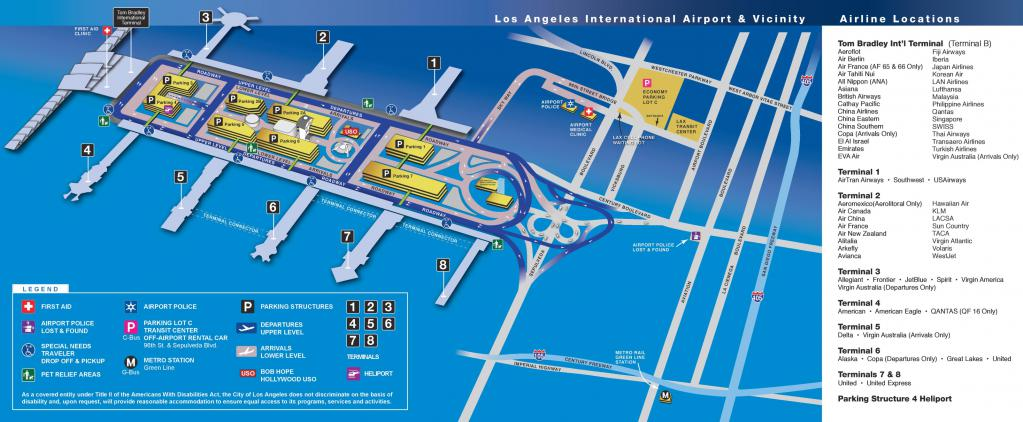 Mappa dell'aeroporto di Los Angeles