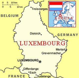 Lussemburgo sulla mappa
