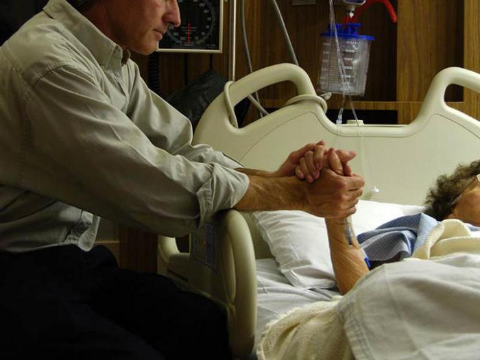 znaki neposredne smrti pacienta