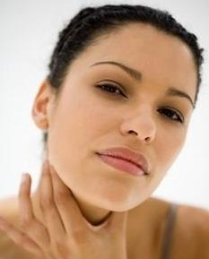 Infiammazione del linfonodo nel collo