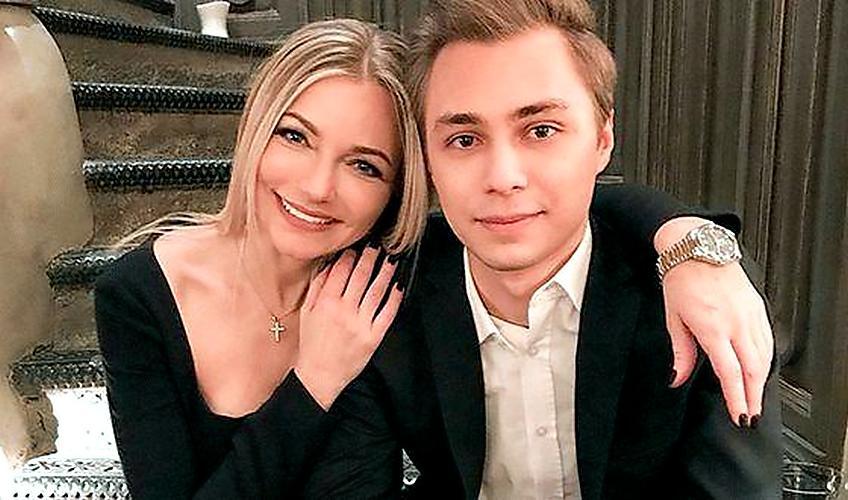 Инна Маликова са сином Дмитријом