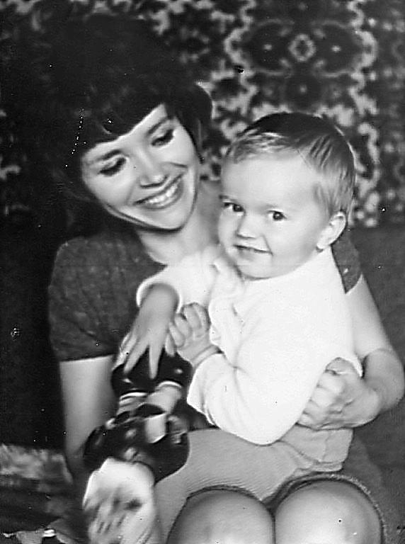 Људмила са малим сином Диме