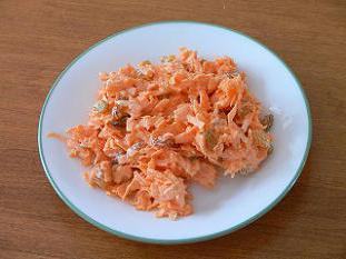 Insalata di carote e pollo coreana