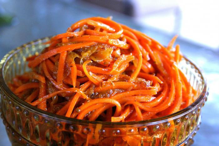 Ricette coreane di insalata di carote
