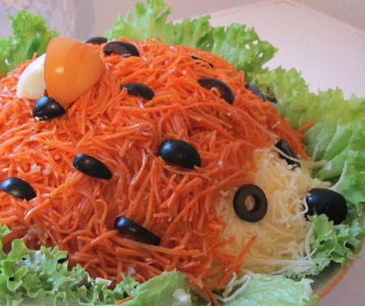 insalata di riccio con carota coreana