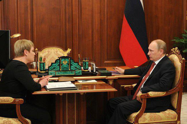 Marina Kovtun e Putin
