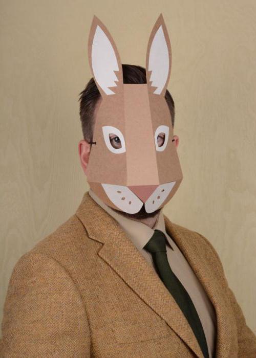 maschera di lepre