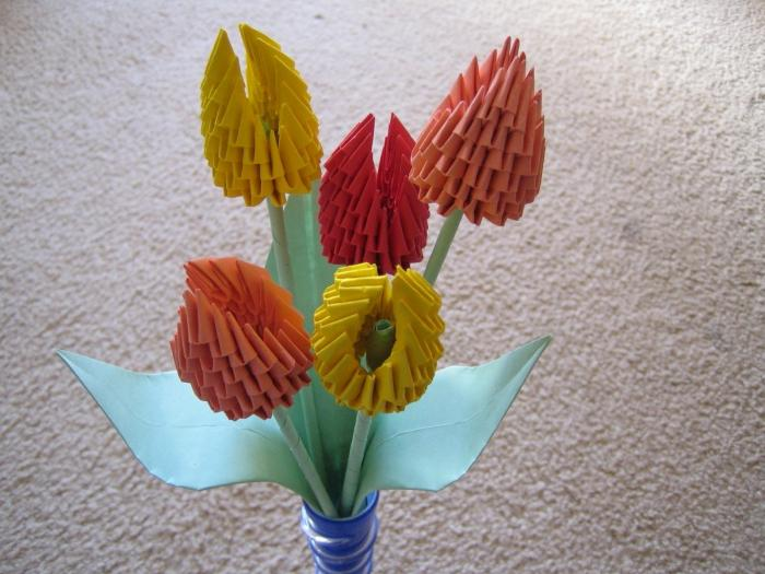 tulipano origami modulare