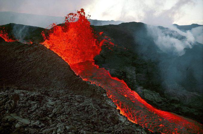 kjer je vulkan Mauna loa