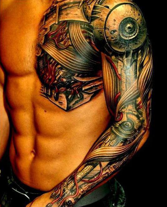 Styl Mechanika Tatuaż Pokaż Co Jest W środku