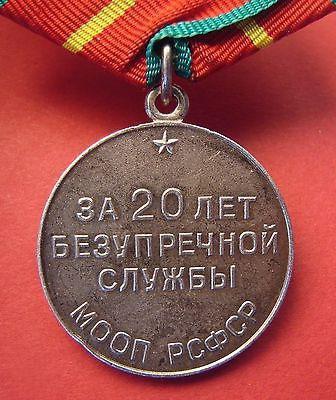 medaglia per 10 anni di servizio impeccabile