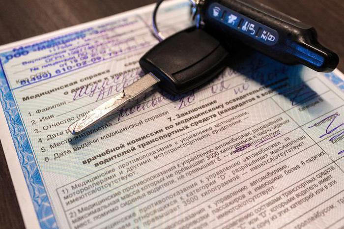 liječničku potvrdu za zamjenu vozačke dozvole u Moskvi
