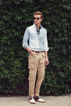 Карго панталони за мъже (снимка).