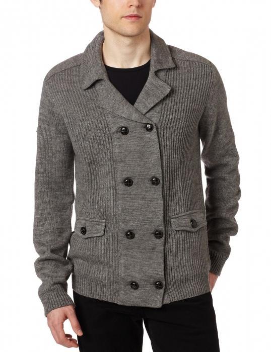 cardigan lavorato a maglia da uomo
