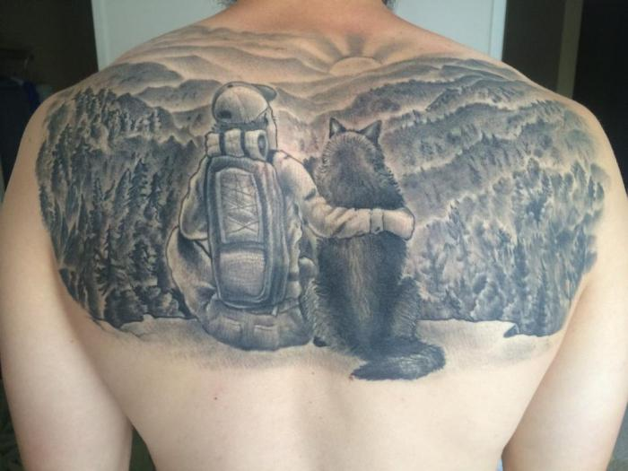 Męskie Tatuaże Na Plecach Plusy Minusy I Opcje Do Szkicowania