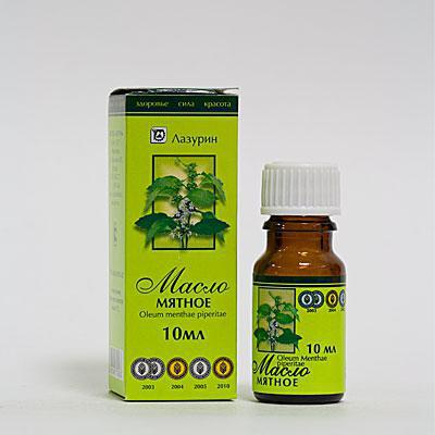 applicazione di olio di mentolo