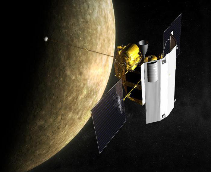 I nomi delle foto dei satelliti di Mercurio