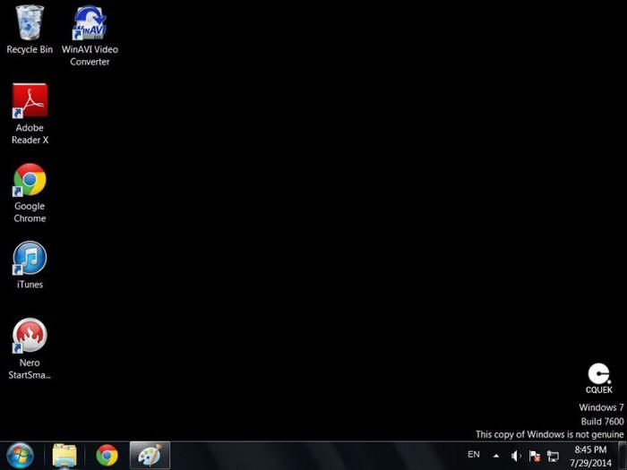 windows 7 vaša kopija ni originalna